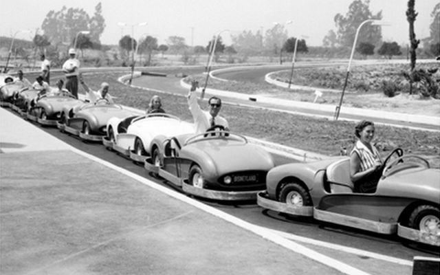 Fantasyland Autopia - Circa 1959 Disneyland