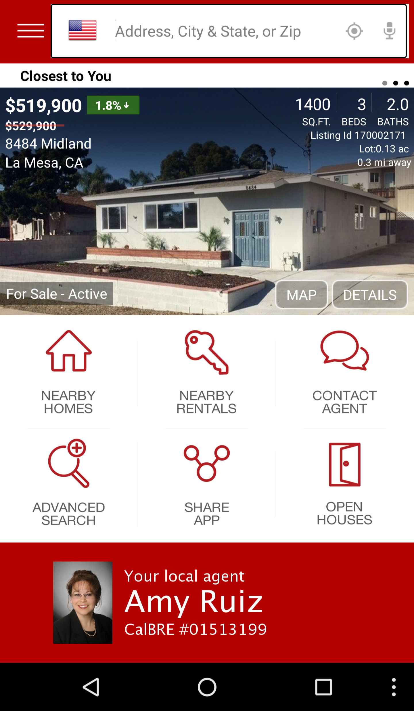 Keller Williams Realty - Amy Ruiz Real Estate Home Search App