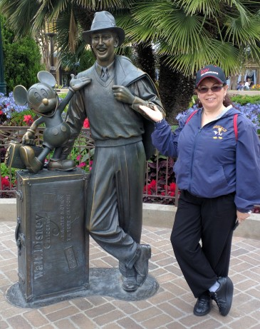 "Amy at ""Storytellers"" Walt Disney and Mickey Statue, Disney California Adventure"