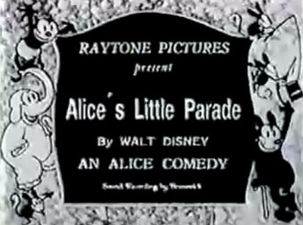 "The Alice Comedies ""Alice's Little Parade"" 1926"