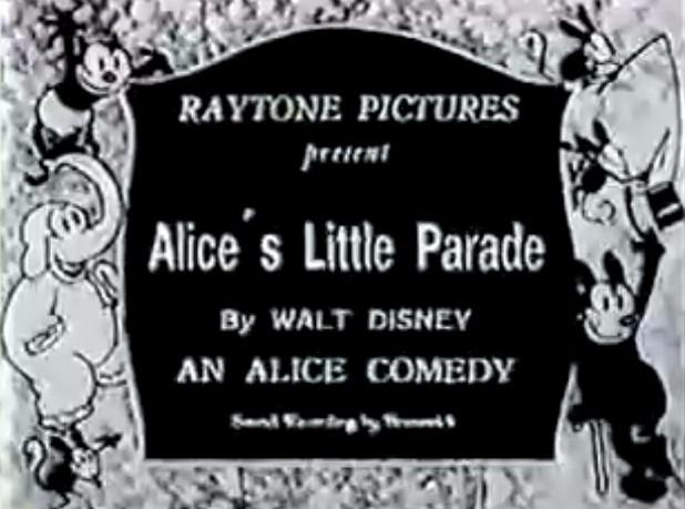 "The Alice Comedies ""Alice's Little Parade"" 1926"