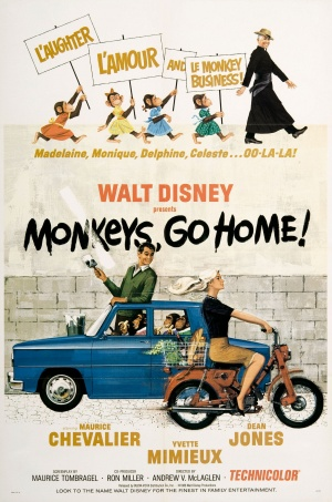Disney Monkeys Go Home - 1967