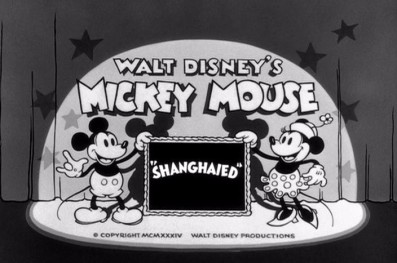 "Mickey Mouse Cartoon ""Shanghaied"" 1934"