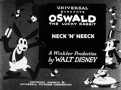 Oswald The Lucky Rabbit - Neck 'N' Neck - 1928