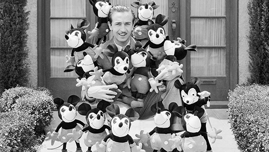 Walt Disney with Mickey Mouse Dolls, 1930's