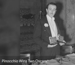 Walt Disney - Pinocchio Wins Two Oscars