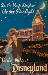 'Date Nite' at Disneyland Poster