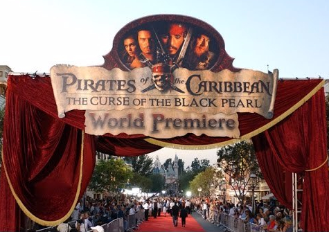Pirates of the Caribbean: The Curse of the Black Pearl World Premiere at Disneyland 2003