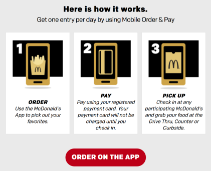 McDonald's McGold Card Sweepstakes 2018 - How it Works