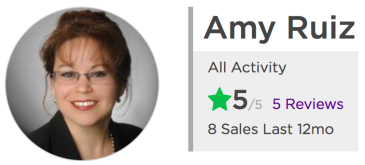 Amy Ruiz Keller Williams Realty San Diego - Zillow 5 Star Ratings
